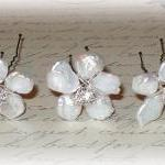 Keishi Pearl Flower Hairpin..